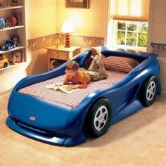 Little Tikes Sports Car Twin Bed Blue