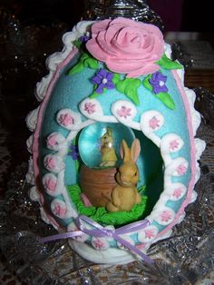 Easter sugar decorated egg