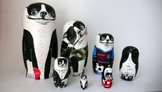 Sidney Littler's nesting dolls set by Irina Troitskaya, via Behance