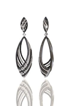 Black and White Diamond Earrings available at Houston Jewelry!