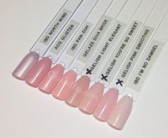 Light Pink Gel Polish Swatches