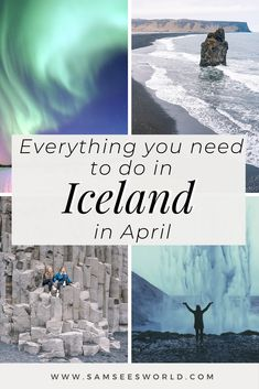 Guide to exploring Iceland in April. #Bluelagoon #Goldencircle #Blacksand #Reykjavik