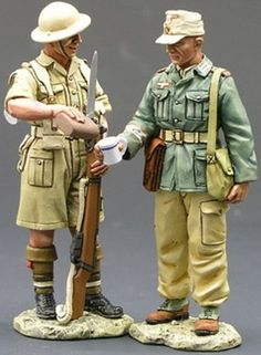 World War II British Army EA012 Best of Enemies - Made by King and Country Military Miniatures and Models. Factory made, hand assembled, painted and boxed in a padded decorative box. Excellent gift for the enthusiast.