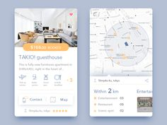 Get accommodation APP by X童 #Design Popular #Dribbble #shots