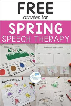 Free Spring Speech Therapy Activities – Communication Window
