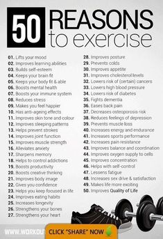50 reasons to exercise – fitness workout motivation! Some great reasons to get o… 50 reasons to exercise – fitness workout motivation! Some great reasons to get out and get busy! Fitness Motivation Quotes, Workout Motivation, Weight Loss Motivation, Daily Motivation, Motivation Boards, Health Motivation, Morning Motivation, Motivation Pictures, Motivation To Work Out