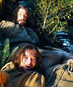 "Thorin and Kili. Kili looks like he's having the time of his life, and Thorin is rolling his eyes like, ""Seriously, Kili?"" :)"