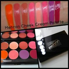 Camera Ready Cosmetics is the Pro Makeup Online Store. Rich, creamy pigment suitable for either cheeks or lips, Mehron's CHEEK Cream Palette is a kit must-have! Hd Makeup, Beauty Makeup, Makeup Artist Kit, Blusher, Mineral Oil, Vibrant Colors, Glow, Eyeshadow, Palette
