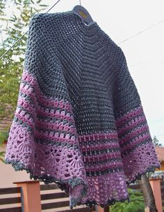 crocheted wrap  pattern from ravelry : Cocobay Wrap
