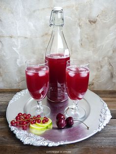 Drink with cherry and red currant | Gotowanie ze stylem