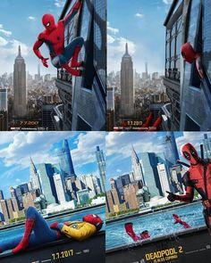 """– Peter Parker (@spidey.marvel)  """"Deadpool interrupting Spiderman is the best. From @alexlex.designs @bosslogic - - - [ #spiderman…"""""""