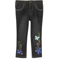 Healthtex Baby Toddler Girl Embroidered Jeans