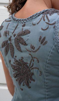 Alabama Chanin DIY applique tank dress