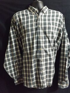 Wrangler Men's Button Front Size XXL Shirt #Wrangler #ButtonFront