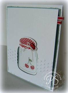 A great peek-a-boo jar!  stampsnsmiles.blogspot.com