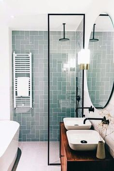 40 Modern Bathroom Tile Designs and Trends — RenoGuide - Australian Renovation Ideas and Inspiration Shower Remodel, Bathroom Interior Design, Bathroom Makeover, Modern Bathroom, Bathroom Renovations, Bathroom Colors, Bathroom Design Small, Rustic Modern Bathroom, Modern Bathroom Tile