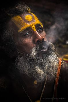 This photo from Gandaki, West is titled 'Holy Sadhu'. Old Man Portrait, Portrait Art, Portrait Photography, Indian Saints, Shiva Lord Wallpapers, Lord Shiva Painting, Shiva Art, Old Faces, India Culture