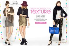 Treat yourself to texture. Shop luxe textures.