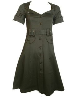 Sale Clearance 45% Off Living Dead Souls Army Wartime Dress 40's S  XL BIG SALE NOW ON AT mouseyessim on ebay