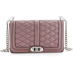 Rebecca Minkoff Love Quilted Turn-Lock Crossbody Bag (2 590 SEK) ❤ liked on Polyvore featuring bags, handbags, shoulder bags, mauve, red shoulder bag, quilted leather purse, crossbody shoulder bags, red handbags and quilted crossbody purse