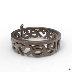 Namaste! Ring aus Edelstahl oder 925 Sterling Silber von uns mit Liebe modelliert und mittels 3D Druck für dich produziert :) Namaste, Stainless Steel, Silver, Rings