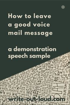 An example demonstration speech: How to leave a good voice mail message, a completed outline, and a blank demonstration speech out line to download for your own use. Speech Writing Tips, Writing Strategies, Demonstration Speech, Speech Outline, Public Speaking, Learn English, Esl, Teacher Resources, Lesson Plans