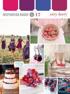 Very berry wedding inspiration board- I like the bridesmaid dresses! Wedding Crafts, Wedding Themes, Diy Wedding, Wedding Events, Wedding Styles, Dream Wedding, Wedding Day, Berry Wedding, Burgundy Wedding
