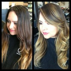 balayage hair vs ombre Balayage has the lighter color highlighted at the top ombre does not