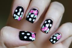 Lipstick + Lacquer: Polka Dots + Flowers