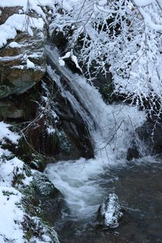 Our waterfall in winter