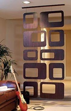 nexxt Sotto Room Divider, Walnut Veneer