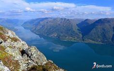 This is the Lustrafjord seen from Mt. Molden. Sogn og Fjordane, Norway.