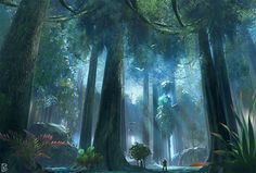 star wars jungle concept ideas digital painting