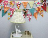 beautiful and bright bunting! super cute in girls room!