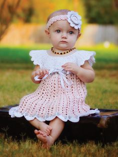 Look At Me Crochet Collection crochet baby dress pattern