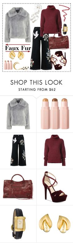 """""""How To Wear: Faux Fur"""" by sophisty ❤ liked on Polyvore featuring Topshop, Alexander McQueen, BY. Bonnie Young, Balenciaga, Jessica Simpson, Henry Dunay and fauxfur"""