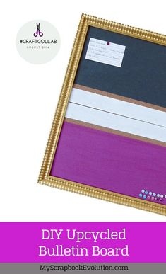 Click to view the video tutorial for an easy up cycled picture frame turned bulletin board.