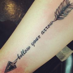 follow your arrow tattoo - Google Search
