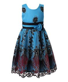 Another great find on #zulily! Blue Floral Dress - Toddler & Girls by Richie House #zulilyfinds