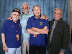 (E-D) Becker, Hedison, Allan Hunt e Derrik Lewis, intérpretes de Sharkey, Crane, Riley e O'Brien (1ªT) em 'Viagem ao Fundo do Mar' (Foto: David Hedison)