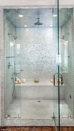 18 Best ideas for bathroom shower remodel steam room Master Bathroom Shower, Bathroom Renos, Small Bathroom, Bathroom Ideas, Steam Showers Bathroom, Bathroom Renovations, Tiled Showers, Shower Rooms, Bathroom Hacks