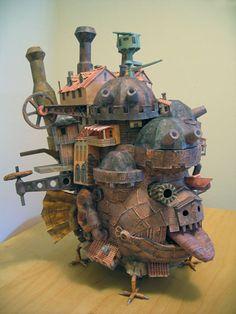 claprov:  Howl's Moving Castle papercraft.