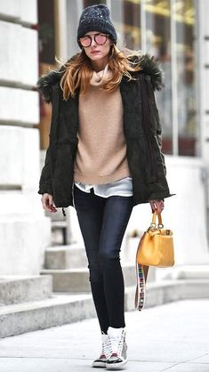 Olivia Palermo teaches us how to be elegant in flat shoes.