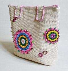 Summer Tote Bag / Crochet Purse / Womens Bag / by Veselunka