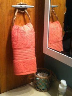 $3 nautical hand towel holder