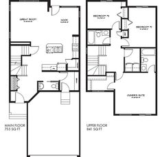 Lexi b model home floor plan by pacesetter homes edmonton ideas image result for front attached garage malvernweather Image collections