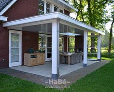 Outdoor Spaces, Outdoor Living, Outdoor Decor, Front Verandah, Open Plan Kitchen Diner, Outside Room, Backyard Patio Designs, Home Landscaping, Back Patio
