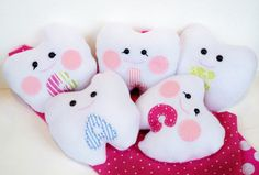 Boy or Girl Tooth Fairy plush toy pillow with the child letter. $18.50, via Etsy.