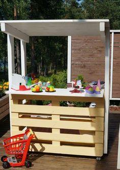Gartenmöbel aus Paletten für Kinder und Erwachsene