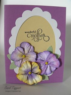 Free Punch Art Ideas | The first is a card I made to use some punch-art pansies on.